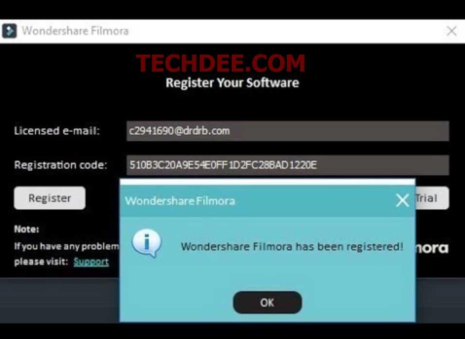 Register Key For Wondershare Filmora