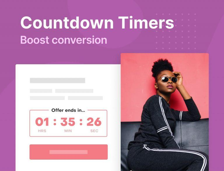 Use website countdown timers