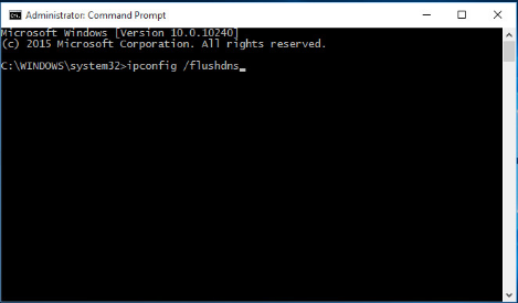 Type ipconfig/flushdns in the command line.