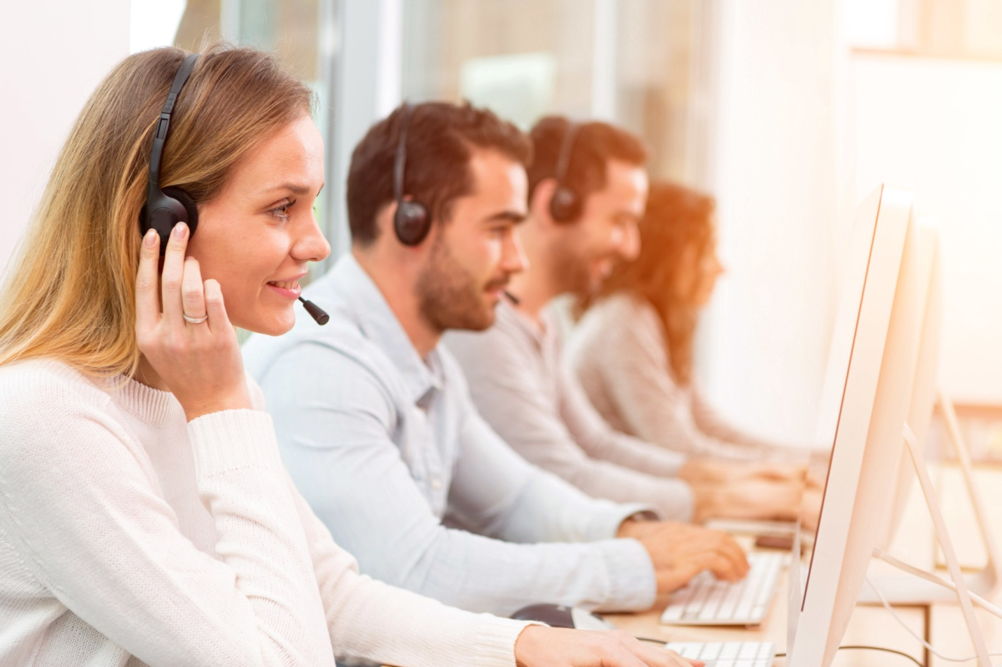 Attend to more than one customer simultaneously