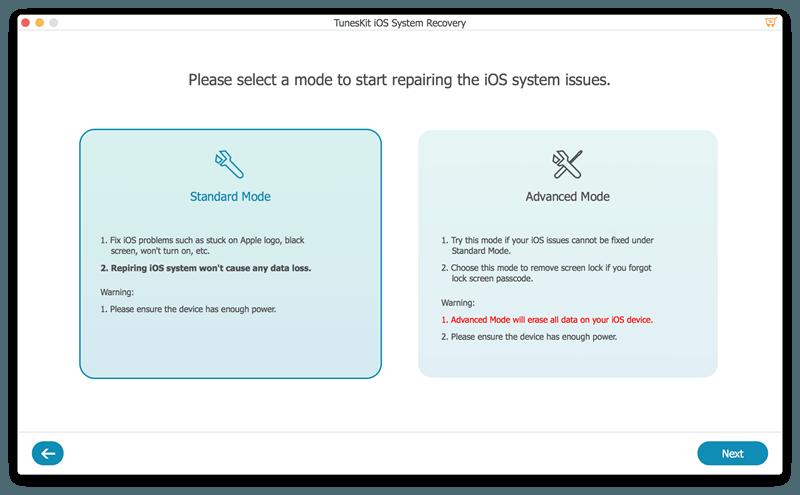 select repair mode