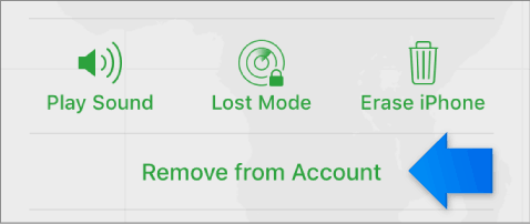 remove iPhone from icloud account