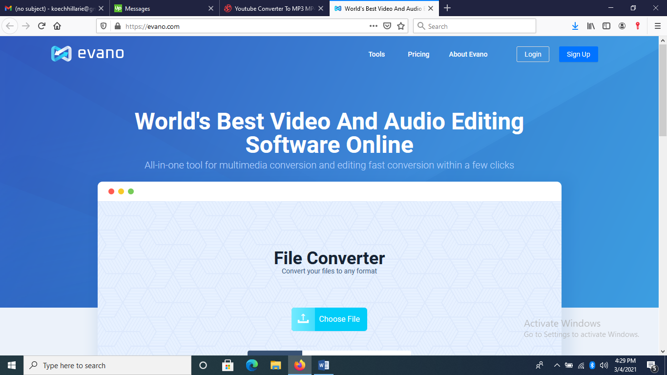 Evano Video and Audio Converter