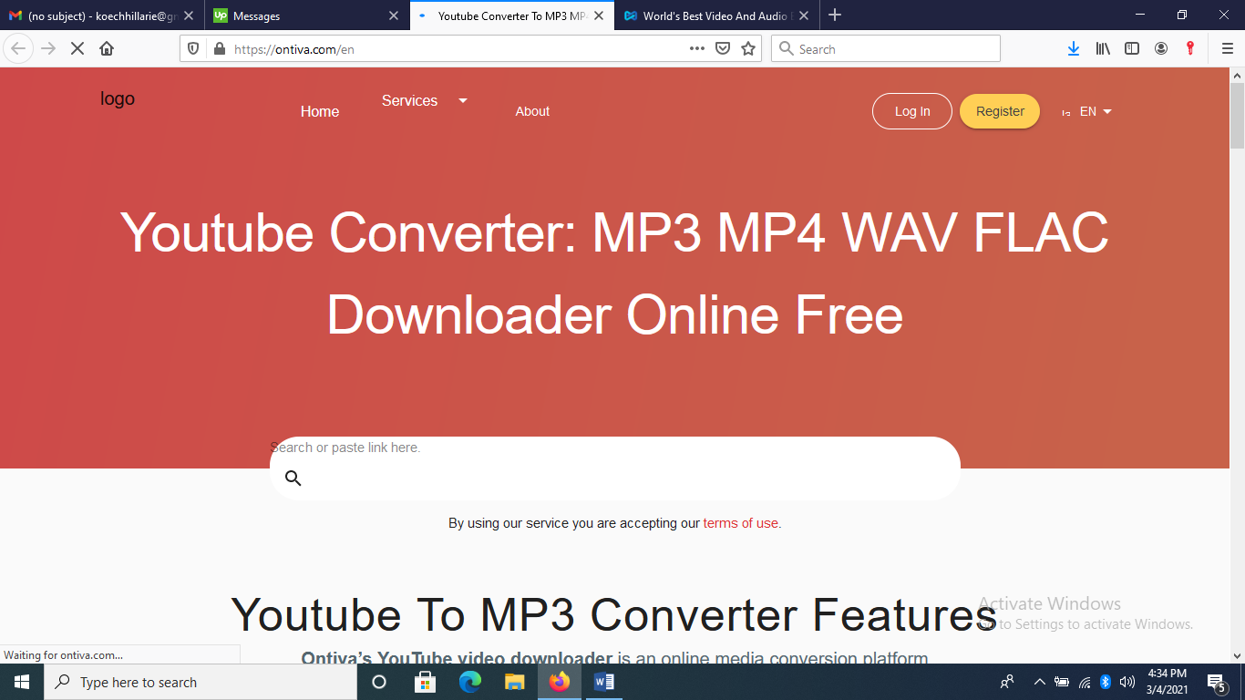 Ontiva Youtube Converter