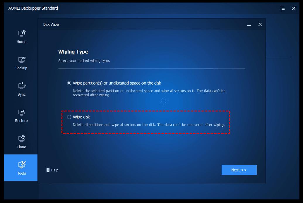 choose-wipe-disk