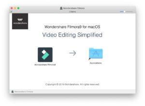 Filmora 9 installation screenshot