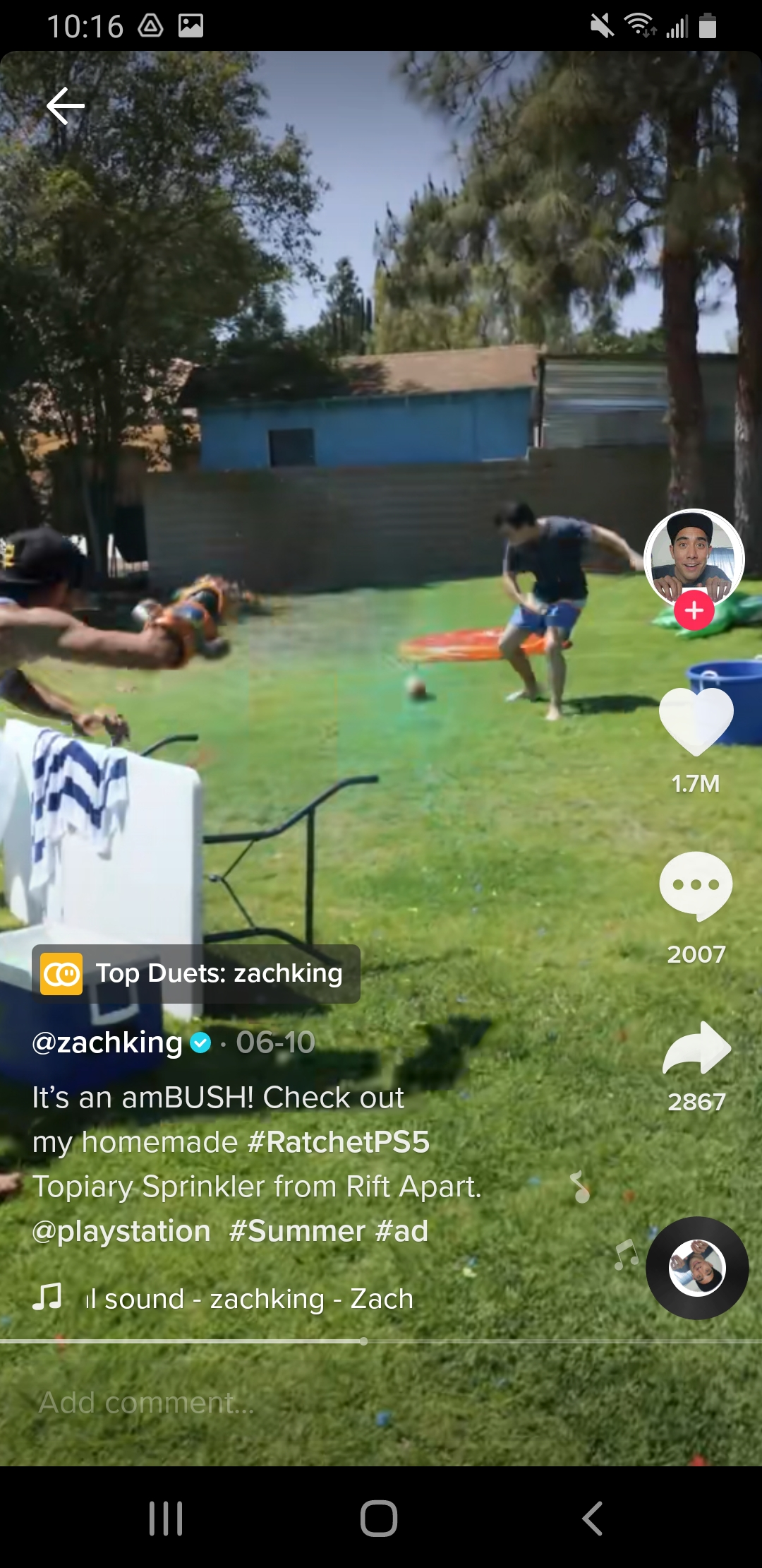 Playstation and Zach King